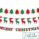 Time Leisure 聖誕節DIY派對佈置掛串旗/麋鹿/聖誕樹/字母3包入 product thumbnail 1