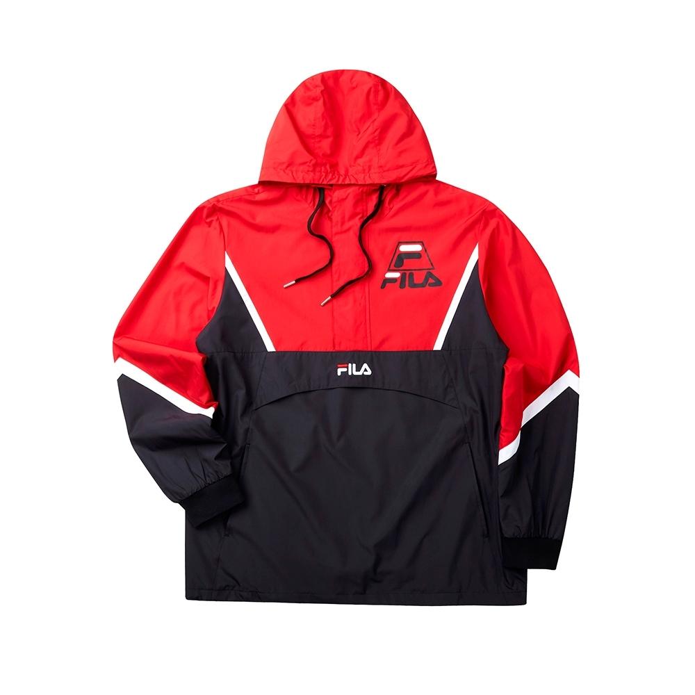 FILA #LINEA ITALIA 平織滑雪衫-黑 1JKT-5413-BK