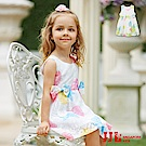 JJLKIDS 夢幻繽紛霓彩蕾絲無袖洋裝(2色)