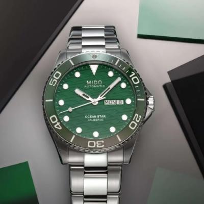 MIDO 美度 Ocean Star 200C海洋之星 廣告款陶瓷潛水錶(M0424301109100)-42.5mm