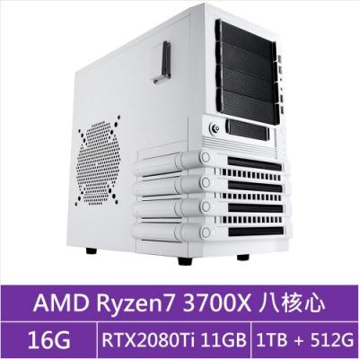 (無卡分期12期)華碩X570平台[貪婪海神]R7八核RTX2080Ti獨顯電玩機