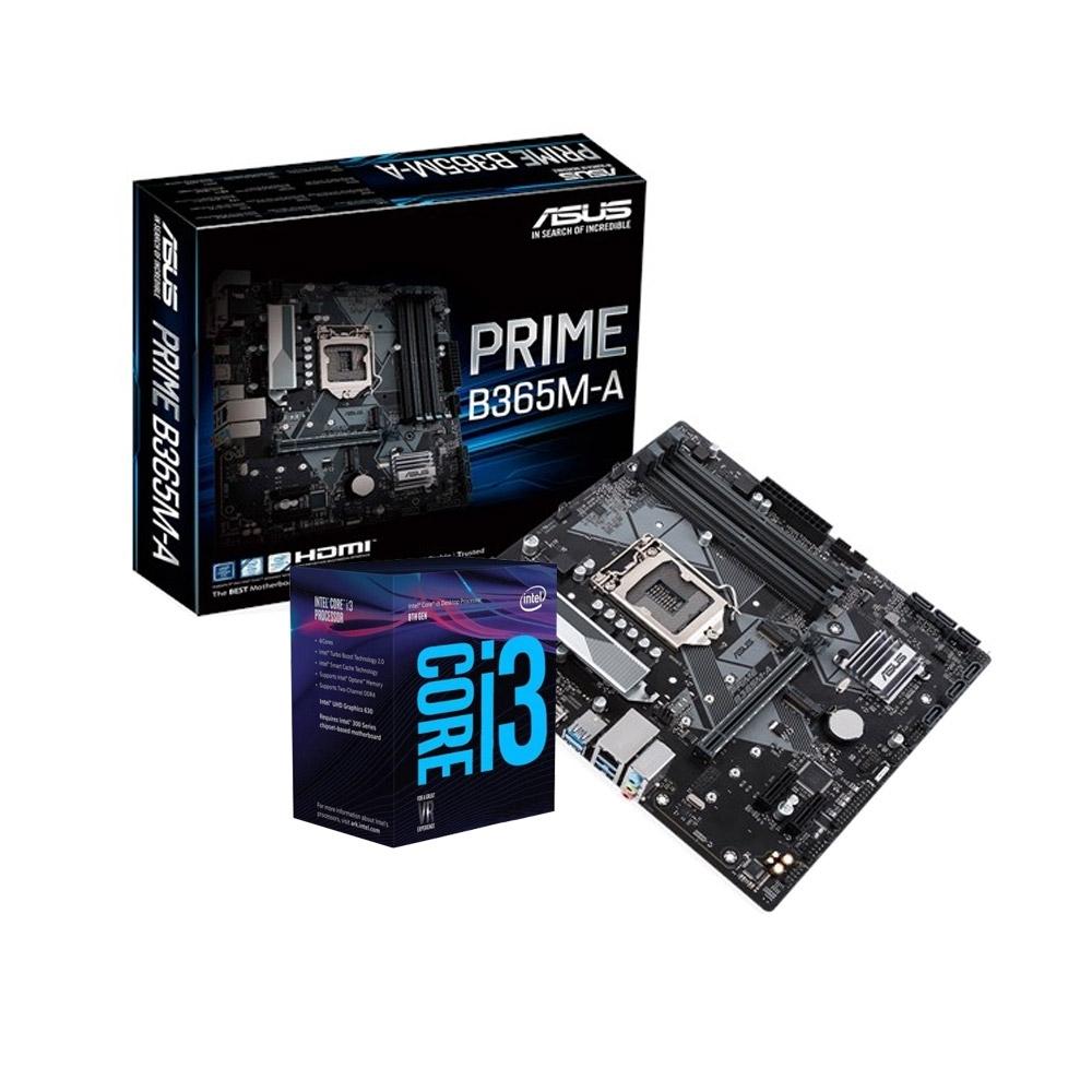 華碩 PRIME B365M-A+Intel i3-9100F 組合套餐