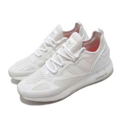 adidas 休閒鞋 ZX 2K Boost 襪套式 男鞋 愛迪達 三葉草 緩震 流行 穿搭 白 FX8834