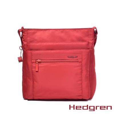 Hedgren INNER CITY四層收納 側背包 赤紅