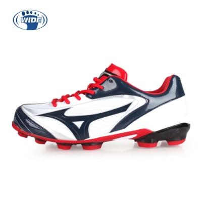 MIZUNO SELECT 9 男棒壘球鞋-寬楦 丈青紅白