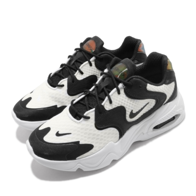 Nike 休閒鞋 Air Max 2X 運動 女鞋 氣墊 避震 舒適 球鞋 穿搭 白 黑 CK2947100