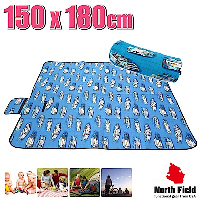 美國 North Field 兒童趣 加厚防水野餐墊(150×180cm)_卡通車隊