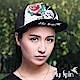 FLYSPIN 潮流行骷髏玫瑰刺繡燙鑽平頂街頭網帽 product thumbnail 1