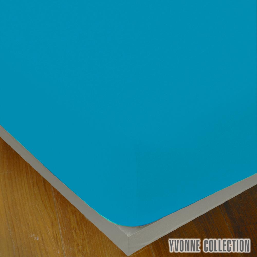 Yvonne Collection 雙人純棉素面床包-灰藍