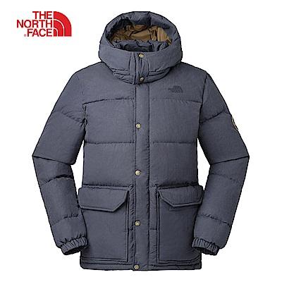 The North Face北面男款灰色防潑水羽絨外套|3RG8ZLY