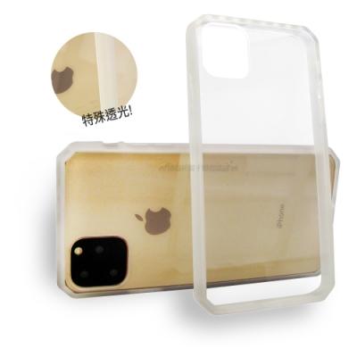軍工級 iPhone 11 Pro 5.8吋 OCT軍規防摔殼 加厚邊框(透光白)