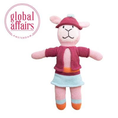 【global affairs】童話手工編織安撫玩偶-36cm(朵莉羊)