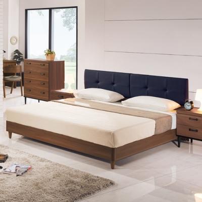 Boden-約瓦工業風6尺雙人加大床組(床頭片+床底)(不含床墊)