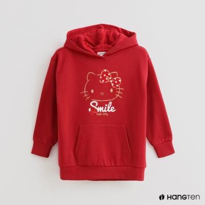 Hang Ten -童裝 - Sanrio-經典童趣圖樣長袖帽T - 紅