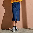 CACO-開衩剪裁洗水長裙-(兩色)-女【RAR040】