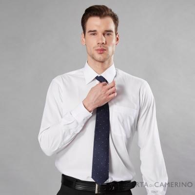 ROBERTA諾貝達 台灣製 輕柔觸感 職場型男防皺長袖襯衫 白色