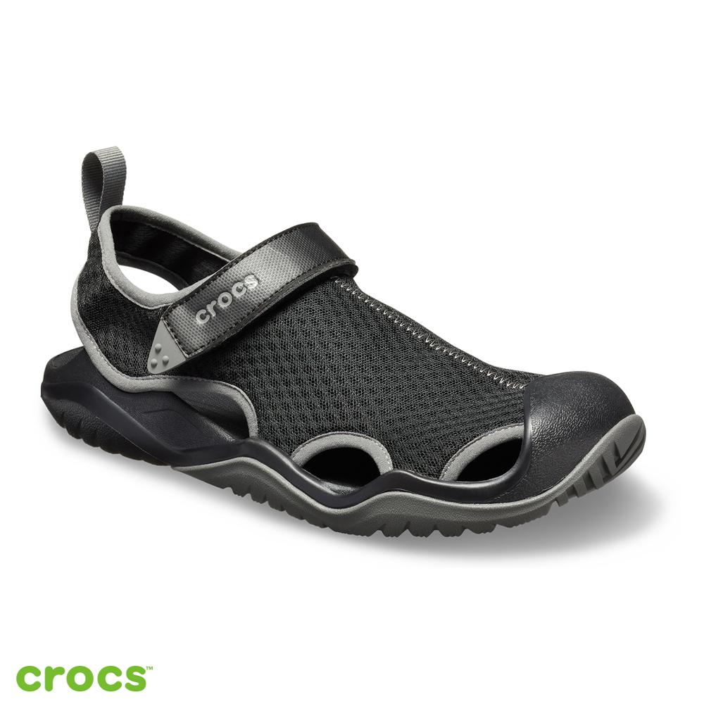 Crocs 卡駱馳 (男鞋) 激浪男士酷網涼鞋 205289-001