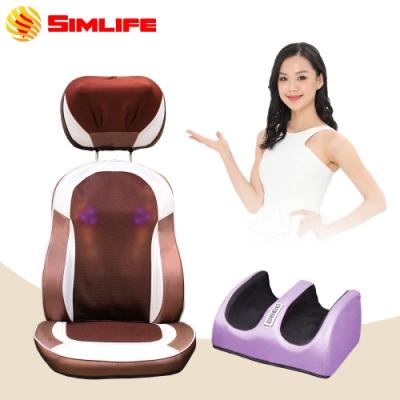 【Simlife】至尊天王按摩椅墊美腿紓壓機超值組