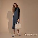 Bois White-  前開叉鈕扣針織背心套裝- 藍/黑/咖