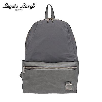 Legato Largo 10口袋後背包-大-灰 LR-H1051GY