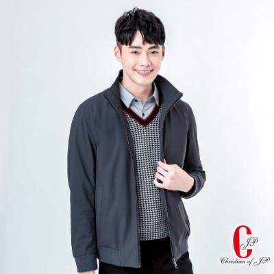 Christian 美式立領鋪棉夾克_灰(KW805-85)