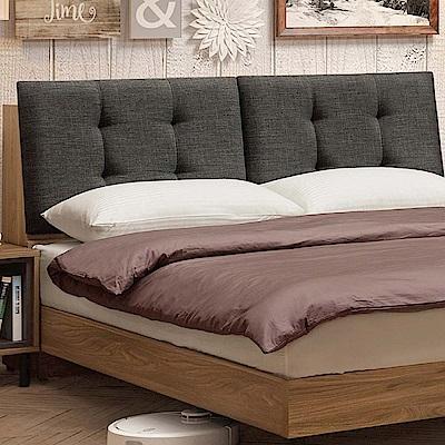 文創集 藍柏蒂6尺雙人加大床頭箱(二色+不含床底)-182x30x98.5cm免組