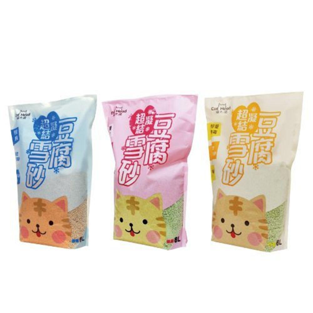 Cat Head貓大頭-超凝結豆腐雪砂- 2.5kg/6L《6包組》
