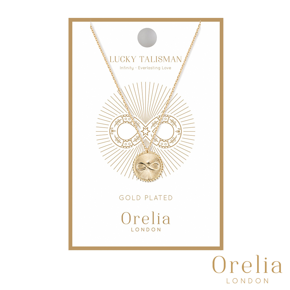 Orelia 英國倫敦 幸運守護無限金幣項鍊