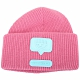 Chiara Ferragni eyelike 眨眼矽膠標誌美麗諾針織羊毛帽(粉色) product thumbnail 1