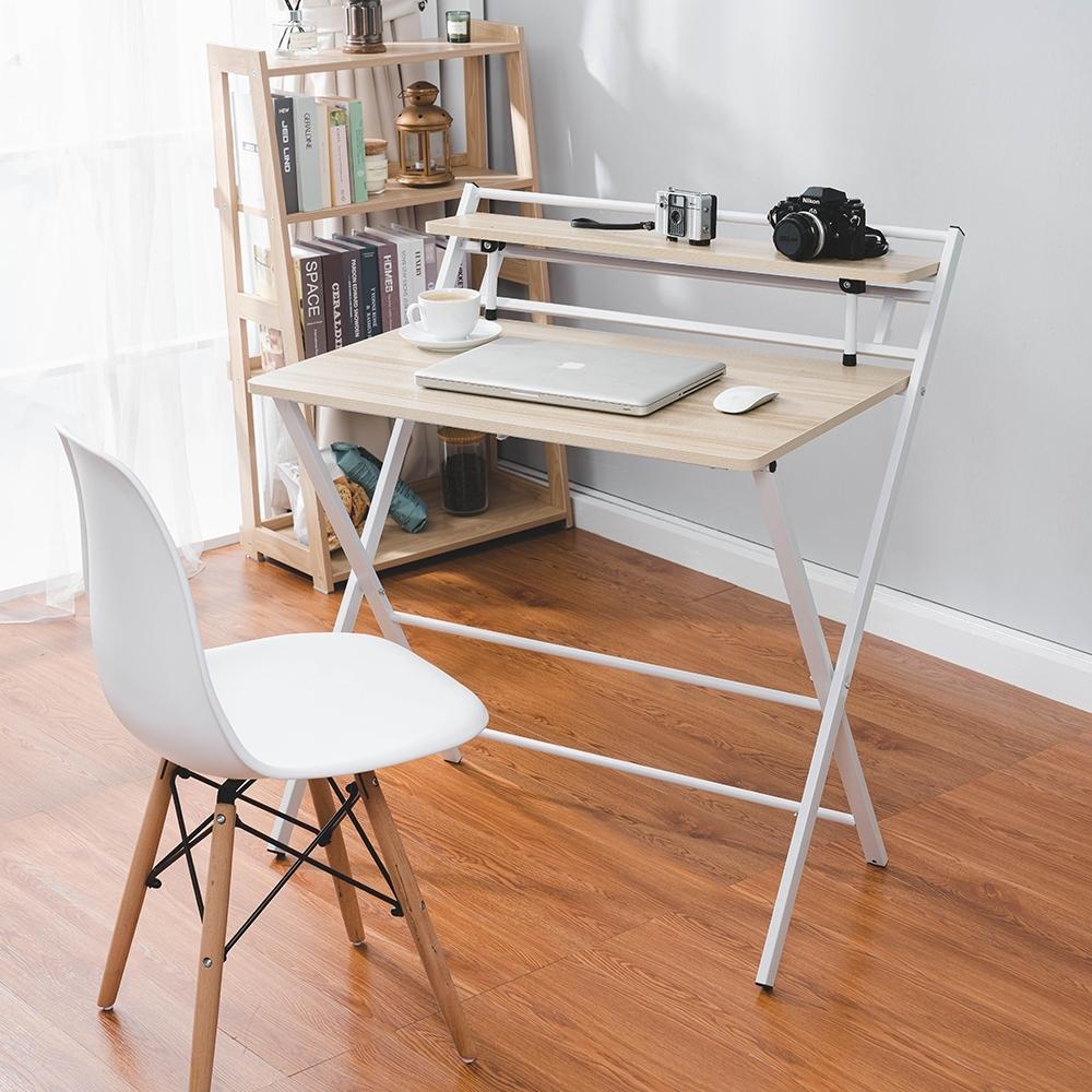 [時時樂限定] 樂嫚妮 免安裝X型折疊工作桌-寬84深60高93cm