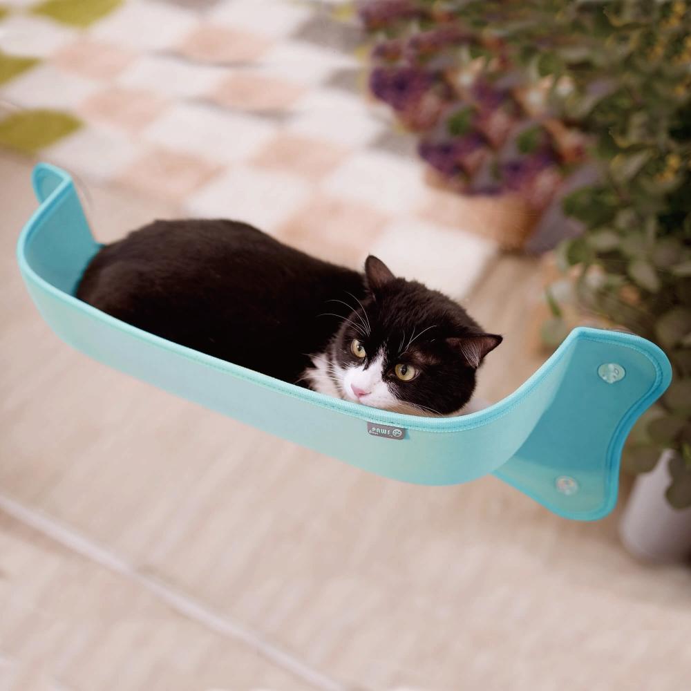 Crazypaws瘋狂爪子 【曬曬】貓咪窗邊床-平腳款