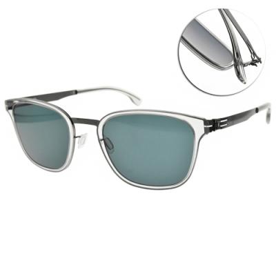 ic!berlin 太陽眼鏡 薄鋼方框款/透明-藍鏡片 #Mr.Bice Sky Grey/Gun Metal