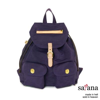 satana - 小休閒束口後背包 - 紫色