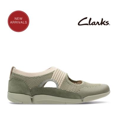 Clarks 運動行風 王牌三瓣風潮超輕量透氣便鞋 卡其色
