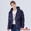 BRAPPERS 男款 可拆帽斜紋修身羽絨外套-藍