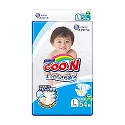 GOO.N日本大王 日本境內版-黏貼型紙尿褲(L)-54片x4包/箱-透氣舒柔