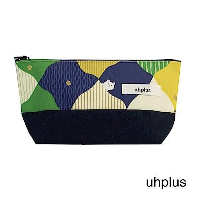 uhplus Q-plus萬用收納包 – 春日和?貓(綠)