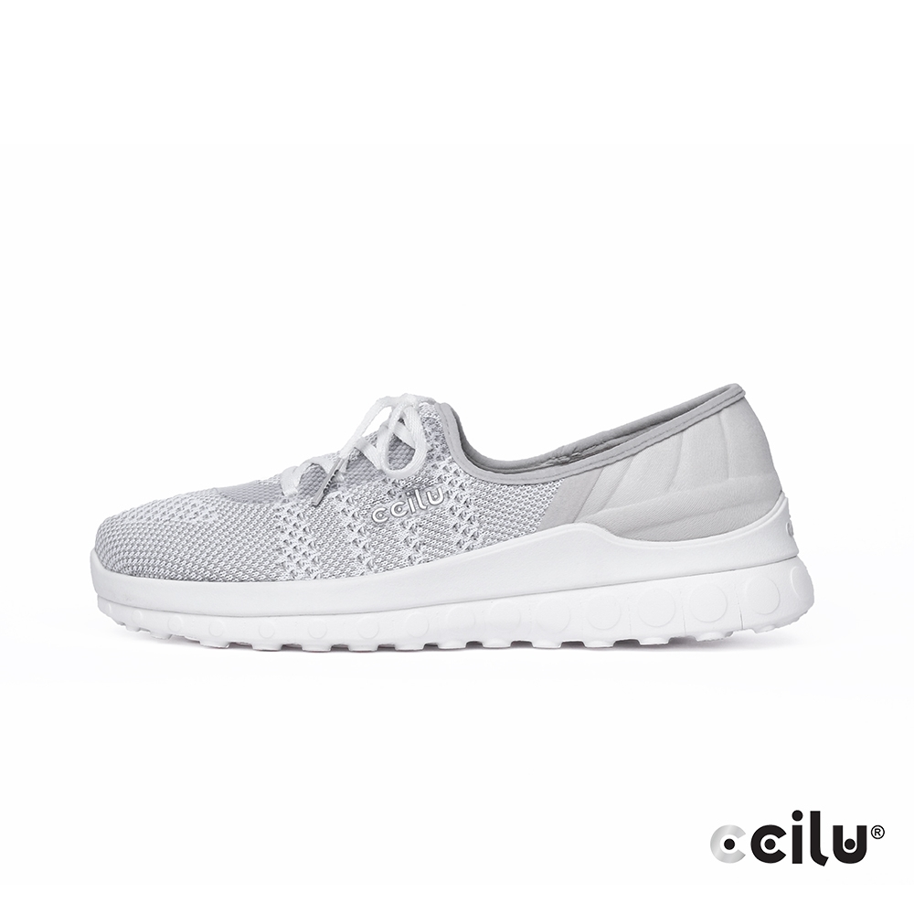 CCILU  飛織網布親膚綁帶休閒鞋-女款-302344103太空灰
