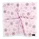 CLATHAS經典燙金LOGO手繪少女風花朵帕巾-粉紅色 product thumbnail 1