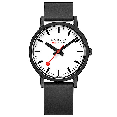 MONDAINE 瑞士國鐵essence系列腕錶-41mm/白