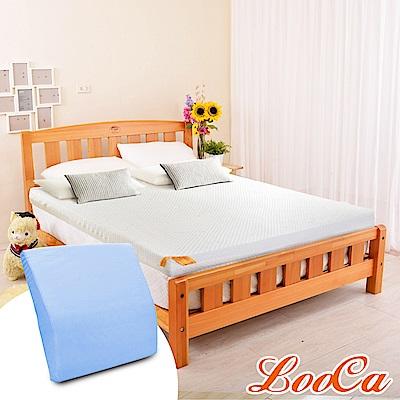 (618特惠組)雙人5尺-LooCa 特級天絲12cm釋壓記憶床墊