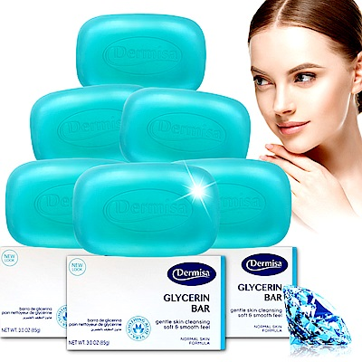 Dermisa藍鑽爆水保濕皂6入組(85gx6)★市價3900(0114好康)