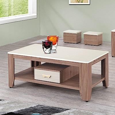 MUNA 達克柚木色石面4.3尺大茶几(含凳)  130X70X55cm