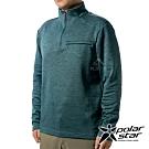 PolarStar 男 立領拉鍊保暖衣『深墨綠』P19265