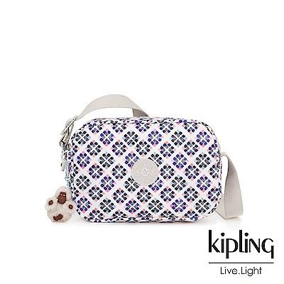 Kipling 復古花磚側背方包-DEE