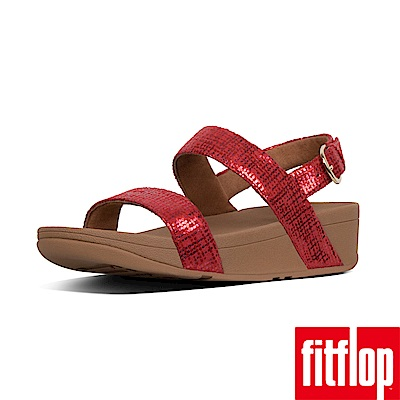 FitFlop CHAIN PRINT後帶涼鞋紅色