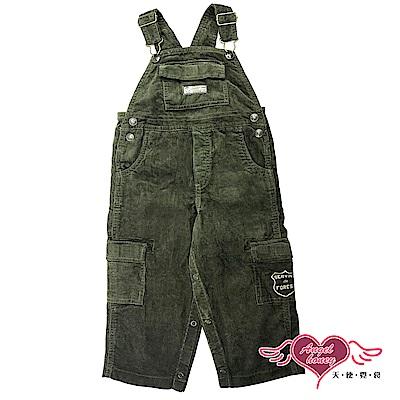 【天使霓裳-童裝】活潑俏皮 兒童休閒吊帶褲(墨綠)
