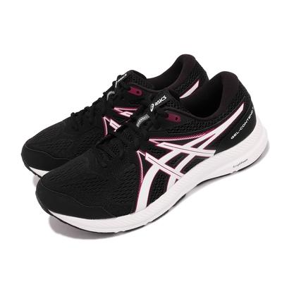 Asics 慢跑鞋 GEL Contend 7 4E 超寬楦 男 亞瑟士 路跑 緩震 耐磨 基本款 舒適 黑 白 1011B039008