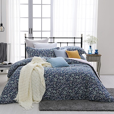 BBL Premium 繽紛舞葉100%精梳棉印花兩用被床包組(特大)