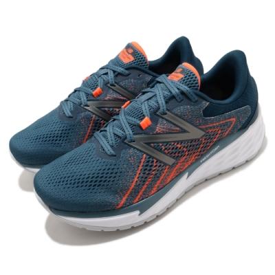 New Balance 慢跑鞋 Fresh Foam 超寬楦 運動 男鞋 紐巴倫 輕量 透氣 舒適 避震 路跑 藍 橘 MVARECB14E
